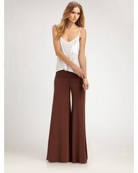 Rachel Pally | Brown Wide-leg Stretch Pants | Lyst