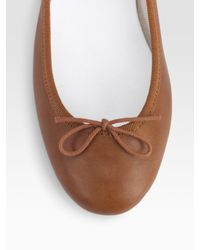 Repetto | Brown Bow Ballet Flats | Lyst