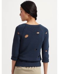 See By Chloé - Blue Hole Pullover - Lyst