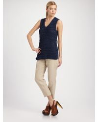 TSE - Natural Slim Linen Pants - Lyst