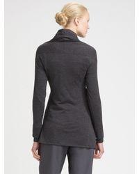 Brunello Cucinelli - Gray Crossover Knit Tunic - Lyst