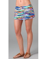 Shoshanna | Multicolor High Tide Print Skirt Cover Up | Lyst