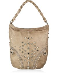 Temperley London - Brown Cirque Studded Leather Hobo - Lyst