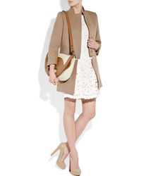 Stella McCartney | Natural Fold Over Canvas and Faux-leather Bag | Lyst
