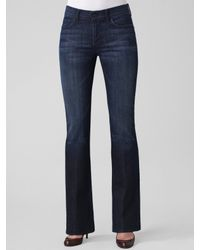 7 For All Mankind | Brown High-waist Bootcut Jeans | Lyst