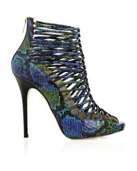 Jimmy Choo | Metallic Quito Snakeskin Shoe Boots | Lyst