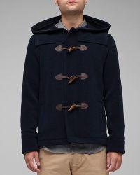 A.P.C. | Blue Duffle Coat for Men | Lyst