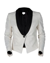Boy by Band of Outsiders - White Cropped Linen Blazer - Lyst