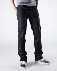 Nudie Jeans | Slim Jim Dry Black Coated Jeans for Men | Lyst