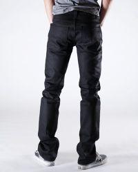 Nudie Jeans - Slim Jim Dry Black Coated Jeans for Men - Lyst