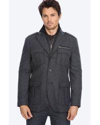 7 Diamonds | Gray Dublin Wool Blend Coat for Men | Lyst