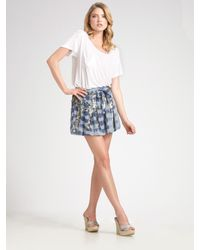 Gryphon | Blue Tie-dye Sequin Mini Skirt | Lyst