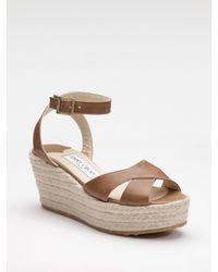 Jimmy Choo | Brown Pepper Platform Espadrilles | Lyst