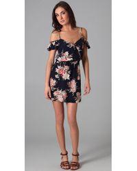 Joie | Blue Sari Floral Silk Dress | Lyst