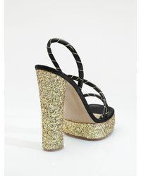 Marc Jacobs - Black Glitter Platform Sandals - Lyst