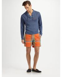 Polo Ralph Lauren | Blue Linen Hooded Pullover for Men | Lyst