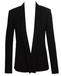 The Row | Black Jacket with Shawl Collar | Lyst