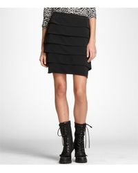 Tory Burch | Black Nether Studded Wool Jersey Necklace Top and Florence Silk Crepe De Chine Skirt | Lyst