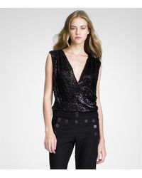 Tory Burch | Black Gellert Top | Lyst