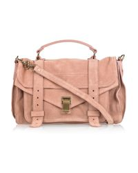 Proenza Schouler | Pink Ps1 Medium Suede Satchel | Lyst