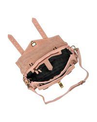Proenza Schouler - Pink Ps1 Medium Suede Satchel - Lyst