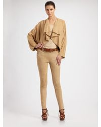 Ralph Lauren Black Label | Natural Jodphur Suede Pants | Lyst