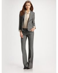 Theory | Gray Max Stretch Wool Suit Pants | Lyst