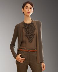 Akris - Brown Cashmere-silk Cardigan - Lyst