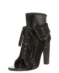 Alexander Wang | Black Freja Suede and Patent-leather Boots | Lyst