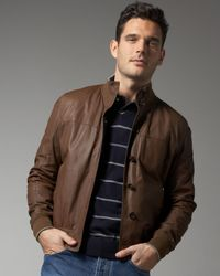 Brunello Cucinelli   Brown Reversible Leather Jacket for Men   Lyst