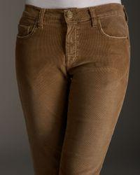 Current/Elliott - Brown The Boyfriend Corduroy Pants, Camel - Lyst