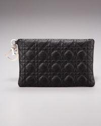Dior | Black Panarea Medium Flat Clutch | Lyst