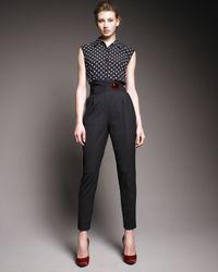 Dolce & Gabbana | Black High-waist Ankle Pants | Lyst