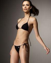 Dolce & Gabbana | Black Sliding Triangle Two-piece Bikini | Lyst