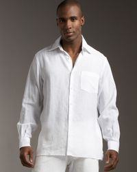 Ermenegildo Zegna | White Linen Shirt for Men | Lyst