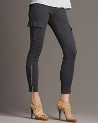 J Brand   Blue Houlihan Skinny Cargo Pants   Lyst