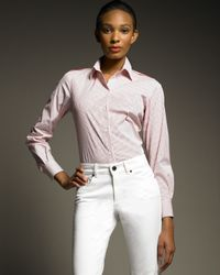 Loro Piana | White Karlie Stretch Blouse | Lyst