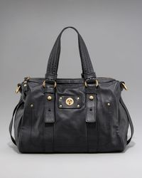 Marc By Marc Jacobs | Black Totally Turnlock Shifty Leather Satchel | Lyst