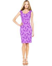 Michael Kors | Purple Floral-print Dress | Lyst