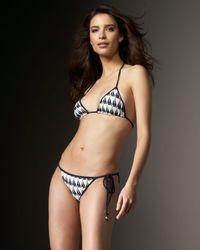 MILLY | White Sailboat-print String Bikini Top | Lyst