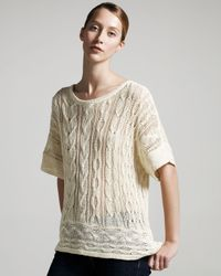 Rag & Bone - Black Magee Cable Sweater - Lyst