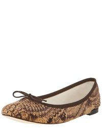 Repetto - Brown Ballerina Shoes - Lyst