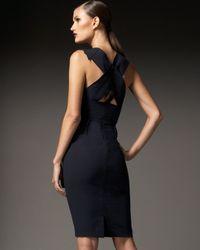 Roland Mouret | Blue Manon Silk and Cotton-blend Dress | Lyst