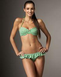Shoshanna | Green Eyelet Bra-style Bikini Top | Lyst