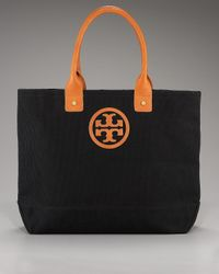 Tory Burch | Black Canvas Jaden Tote, Small | Lyst