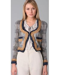 DSquared² - Gray Ladylike Tweed Jacket - Lyst