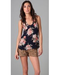 Joie | Blue Montreal Romantic Floral Tank | Lyst
