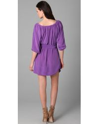 Rebecca Taylor - Purple Simply Shirt Dress - Lyst