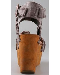 Joe's Jeans - Brown Bliss Platform Wedge Sandals - Lyst