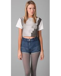 Opening Ceremony | Gray Ermes Cropped Tee | Lyst